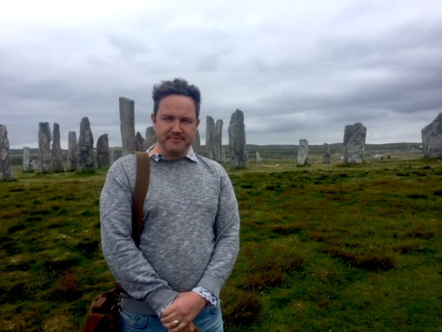 Alan Bissett at Callanish